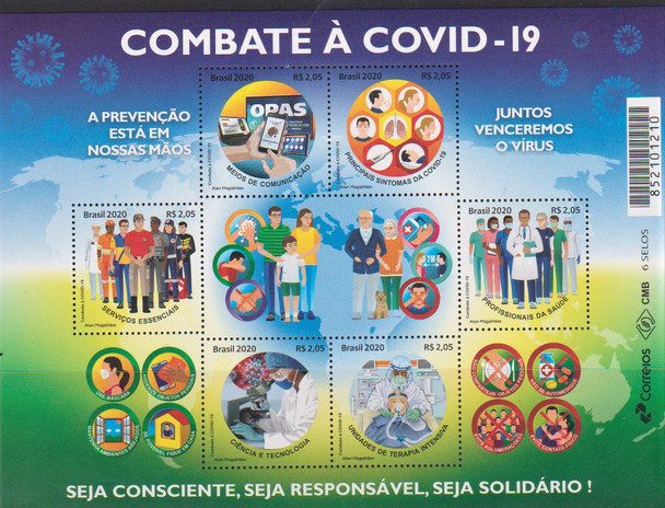 BRAZIL  (2020)- COVID 19 MEDICAL RESPONSE SHEET OF 6 VALUES
