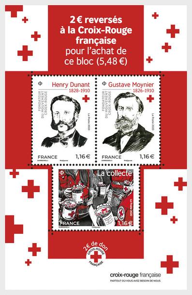 FRANCE (2020)- Red Cross Sheet of 3v