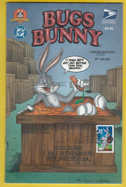 USPS (1997)-- BUGS BUNNY LIMITED EDITION COMIC BOOK W/FIRST DAY CANCEL-- SOLD WITH  COMPLETE MINT SHEET!