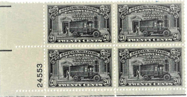 US (1925) SPECIAL DELIVERY #E4 -20c - BLOCK OF 4 MNH