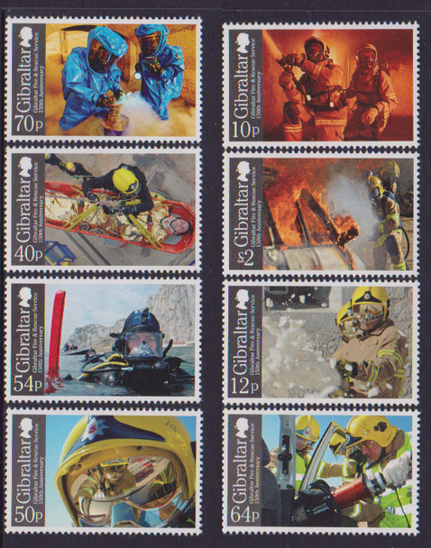 GIBRALTAR (2015): Fire & Rescue Services Anniversary (8 values)