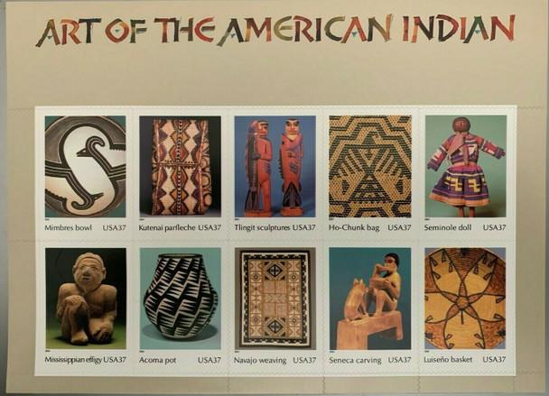 US (1996) 32c American Indian Dances  Sheet- SC#3072 & (2004) #3873 Indian Art + 1990 Indian Headress Folder w/Stamps!