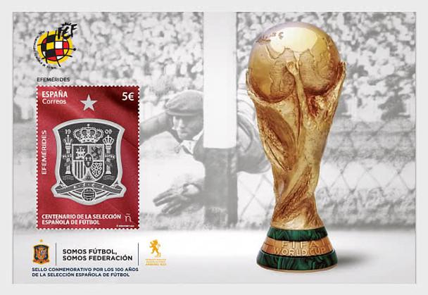 SPAIN (2021)- Soccer Centenary Sheet