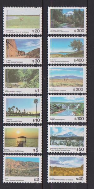 ARGENTINA (2020)- -National Parks Definitives (12 values)