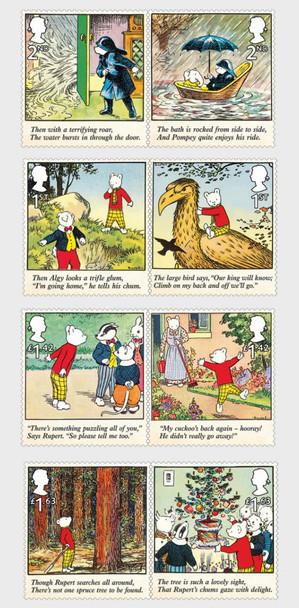 GR. BRITAIN  (2020)-- Rupert Bear (8v)- cartoons
