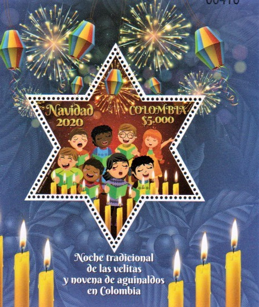 COLOMBIA (2020)- Christmas Sheet- Chorus & Candles- Star Stamp