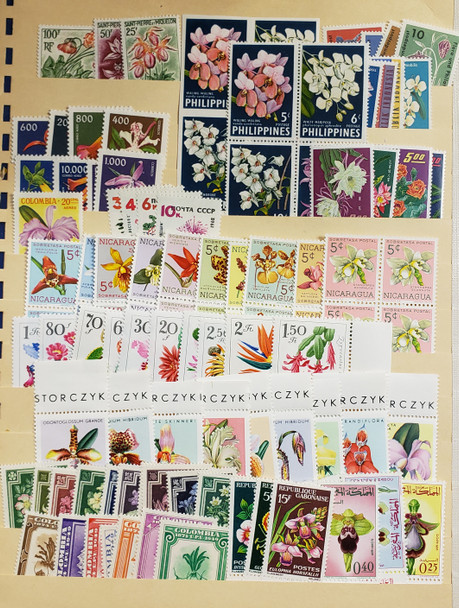 FLOWERS,ORCHID Collection of Various Countries C1960's SCV $120
