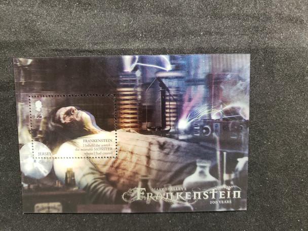 JERSEY (2018) Frankenstein Anniversary--  3D Souvenir Sheet- LAST ONE!