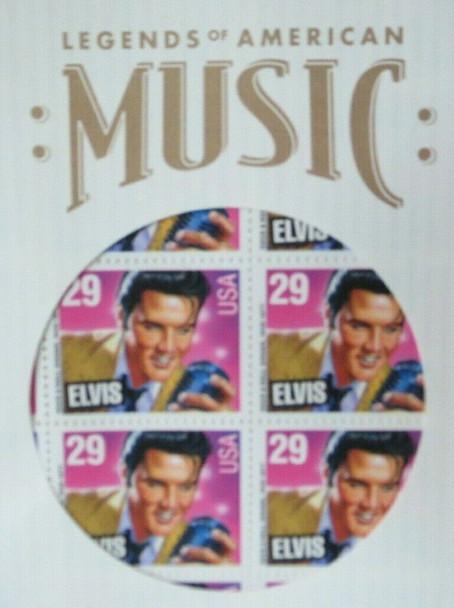US (1993)- Elvis Stamp Sheet & Commemorative Saver Sleeve