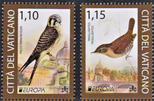 VATICAN (2021)-Europa- Endangered National Animals- Birds (2v)