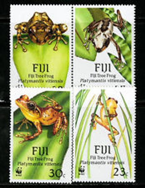 FIJI (1988) WWF Tree  FROGS (4v)