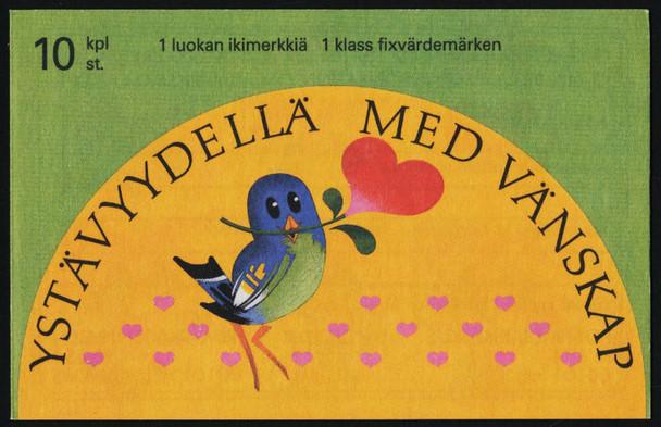 FINLAND (1993)- FRIENDSHIP BOOKLET- CARTOON BIRDS,HEARTS, ETC.-