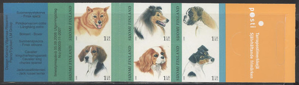 FINLAND (2008) - Dogs Booklet w/Pane of 6 values