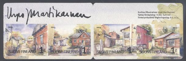 FINLAND (2014) : Autumn Booklet-watercolors by Urpo Martikalnen