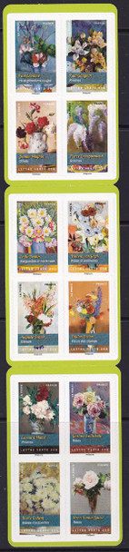 FRANCE: Flower Bouquet Booklet- self-adhesive- paintings
