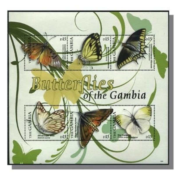 GAMBIA- Butterflies 2009- Sheet of 6