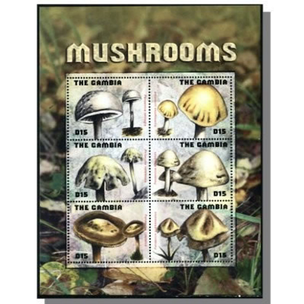 GAMBIA- Mushrooms 2009- Sheet of 6