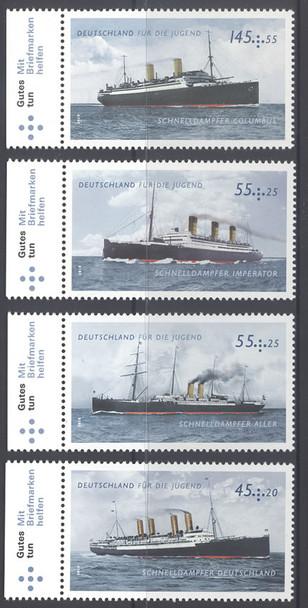 GERMANY- Steam Ships- semipostals (4)