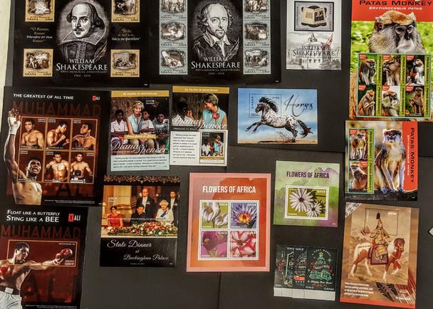 GHANA (2016-7)- 14 ISSUES- Wildlife, Boxing, Diana, MORE!- Original retail> $148