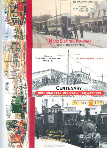 Isle Of Man: ISLE OF MAN- RAILWAYS AND TRAMS BOOKLET COLLECTION