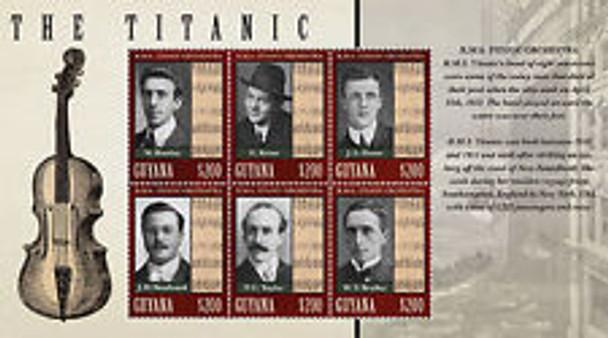 GUYANA (2013) TITANIC ORCHESTRA  Sheet of 6