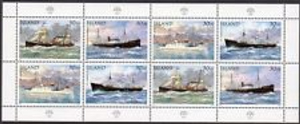 ICELAND (1995) SHIPS Boats  FULL SHEET 8v