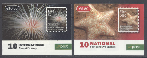 IRELAND: Marine Life 2014 Booklets- self-adhesive- anemone 1- starfish .68 (2)
