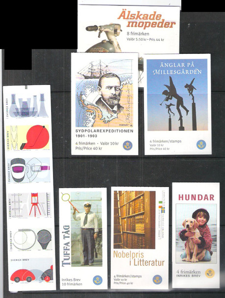 Sweden: SWEDEN- BOOKLET COLLECTION- 15 GREAT TOPICS- Org. Retail>$162!