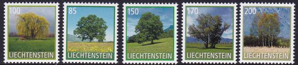 LIECHTENSTEIN (2017)- Tree Definitives- self-adhesive (5)