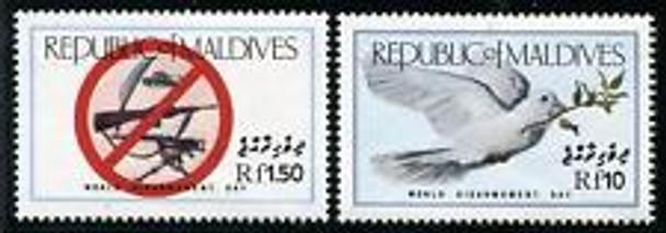 MALDIVES (1986) DOVES GUNS Scarce Set