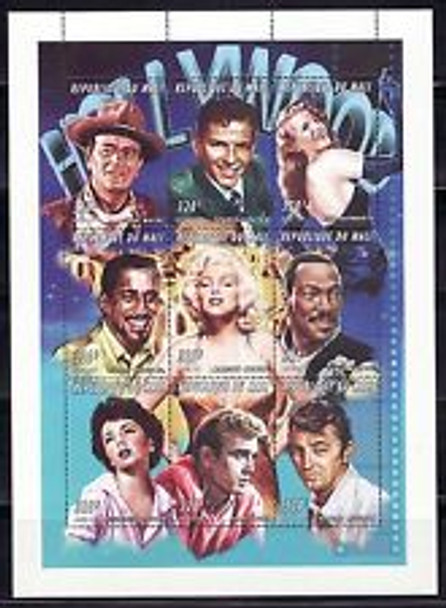 MALI (1997) HOLLYWOOD FILM STARS Mini Sheet SINATRA J WAYNE James Dean