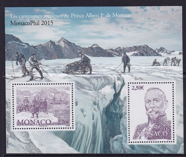 MONACO (2016) : Monacophil Arctic Expedition- Sheet of 2- Pr Albert