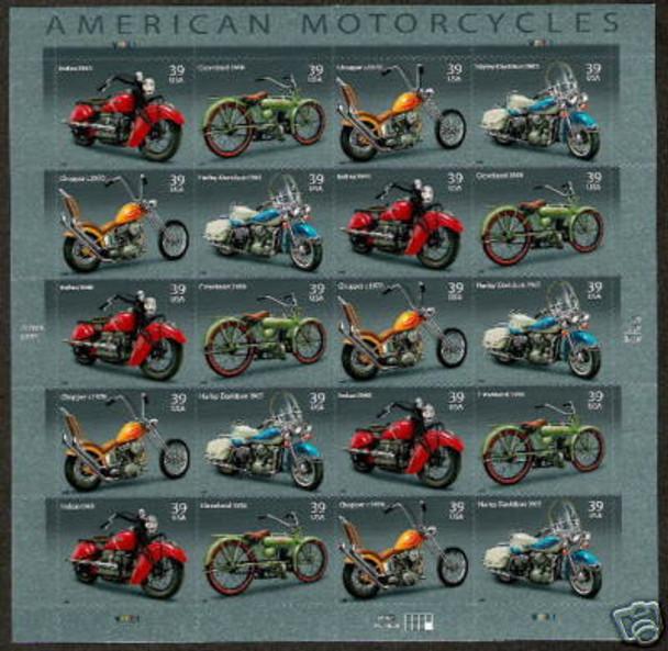 US (2006)  American Motorcycles Sheet of 20v- SC#4088