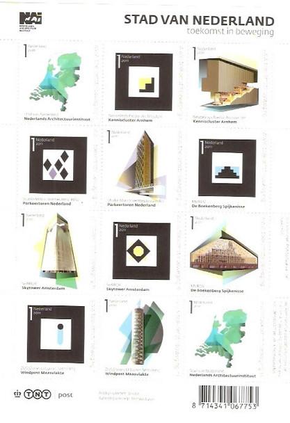 NETHERLANDS (2011)- City of Netherlands Architecture- Sheet of 12