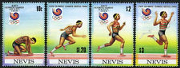 NEVIS (1988) Olympics Runners Strip