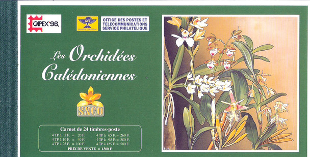 New Caledonia (1996)- Orchid Prestige Booklet for Capex Expo