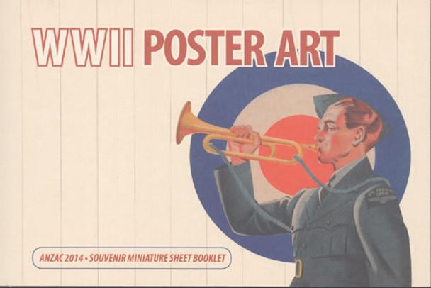 NEW ZEALAND (2014) : WWII Poster Art Prestige Booklet