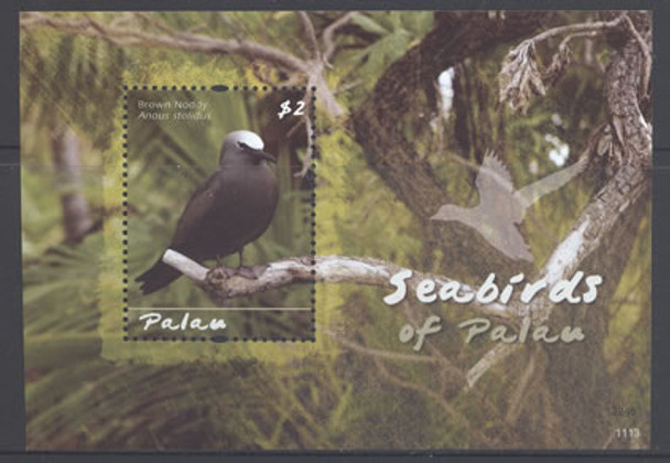 PALAU- Seabird- souvenir sheet- brown noddy