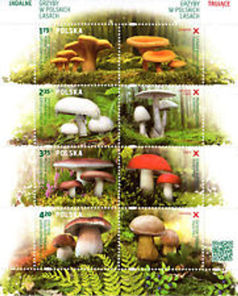 POLAND  (2014)  MUSHROOMS Sheet (8v)