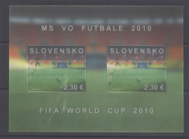 SLOVAKIA- World Cup Soccer 2010- souvenir sheet- moving image