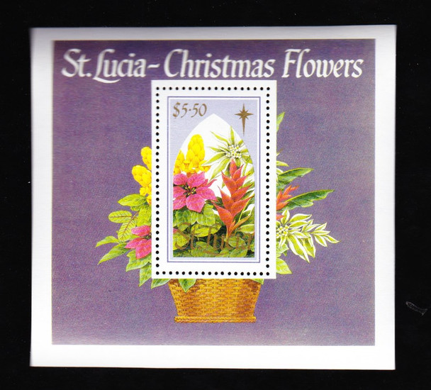 ST LUCIA ( (1989) Christmas Flowers SS