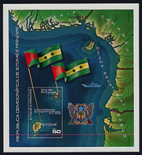 ST THOMAS (1978) MAP FLAGS SHEET