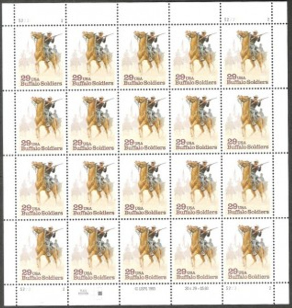 US (1994)- Buffalo Soldiers Sheet of 20v- #2818