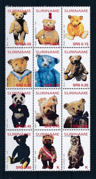 SURINAM (2004) - Classic Teddy Bears (12 values)
