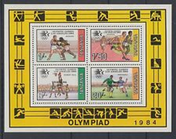 TANZANIA 1984 OLYMPICS Sheet  of 4v