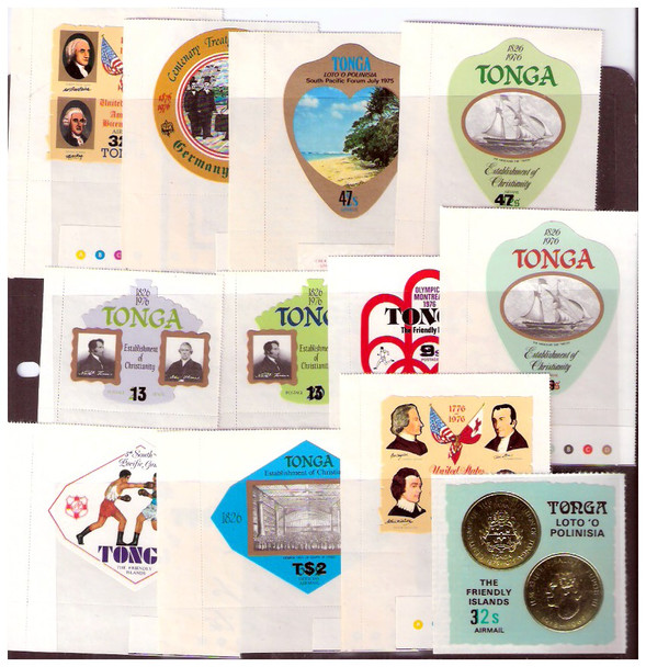 TONGA (1980)- SURCHARGES ON ANNIVERSARY ISSUES- 12v