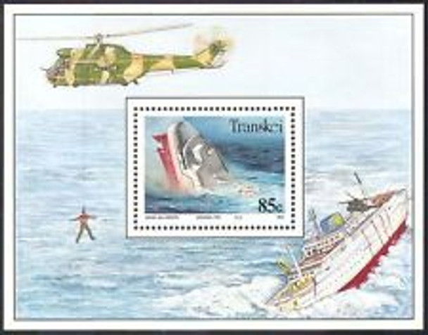 TRANSKEI (1999) Ship Rescue, Helicopter, SS Sheet