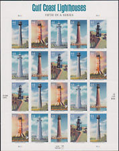 U.S.- Gulf Coast Lighthouses 5th in series- self-adhesive sheet