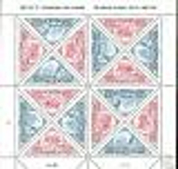 US (1997)- PACIFIC STAMP EXPO- SHIPS & STAGECOACH- TRIANGLE STAMP S- SHEET OF 16- #3131A