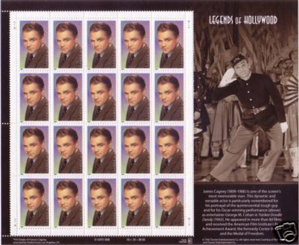 US (1999)- Legends of Hollywood- James Cagney Sheet (1999)
